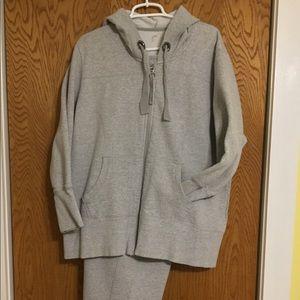 Gray Hoodie and Sweat Pant Set